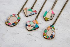 Wooden wall gems, necklaces, keychains and... |