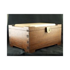 Handmade Walnut and Tiger Maple Trinket Box Felt-lined with Brass hw... ($110) via Polyvore featuring home, home decor, small item storage, brass trinket box, brass box, handmade boxes, walnut boxes and felt lined box