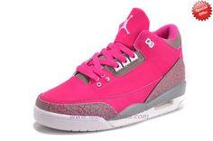 Pink/Grey AIR JORDAN 3 RETRO 318376-089 On Cyber Monday