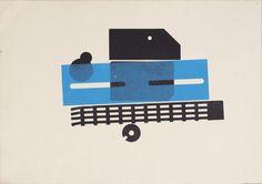 Karel Martens  Untitled, circa 1994  letterpress monoprint on paper  13 ¾ × 9 ⁷⁄₈ in. (350 × 250 mm)
