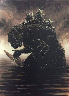 GREAT drawing but... Godzilla's hands/fingers look really creepy. O.o