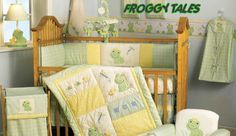 Frog Nursery Crib Bedding Accessories Decorations Mobile Quilt Wall Rug Crown Prince Princess