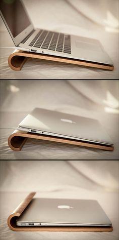Laptop stand in walnut!