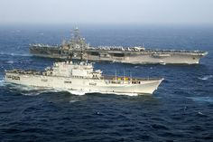 USS Harry S. Truman (CVN-75) - Nimitz class Aircraft Carrier (USA) and Giuseppe Garibaldi (551) Aircraft Carrier (Italy)