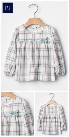 Bow plaid shirt