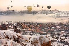 Yolu gökyüzü olan masal şehir - Göreme Türkiye