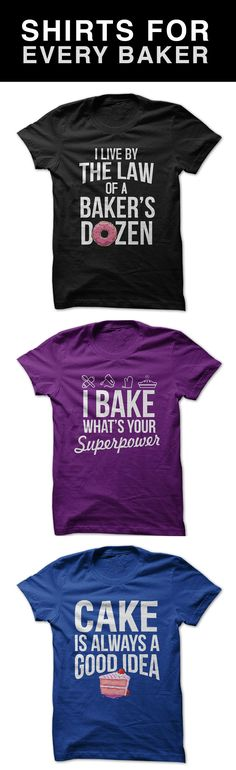 Everywhere you go people will give you compliments and ask about your shirt. Be proud of your love of baking. I Love Apparel makes comfortable tees that are perfect for wearing around town or staying home and baking something tasty. Any two shirts ship for free so come check out our selection now.