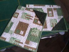 jogo americano em patchwork com quilt
