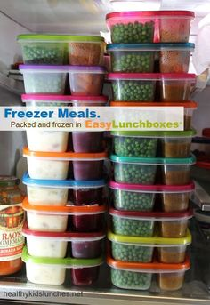 Packed in Easy Lunchboxes. Now that's a lot of microwaveable dinners! Packed in Easy Lunchboxes. Now that's a lot of microwaveable dinners! Individual Freezer Meals, Make Ahead Freezer Meals, Crock Pot Freezer, Meals For One, Quick Meals, Freezer Recipes, Budget Freezer Meals, Single Serve Meals, Top Recipes