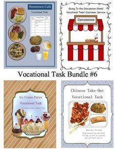 Vocational task bundle for learning customer service skills