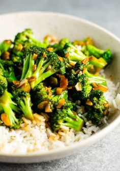 Chinese takeout style broccoli with garlic sauce recipe! #chinese #broccoli #stirfrysauce