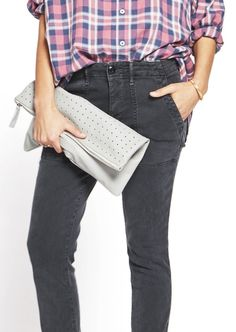 The Traveler Gift Guide | LumillaMingus Perforated Laia Clutch