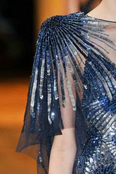 Silver & Royal Blue, by Zuhair Murad. Fall Collection 2013