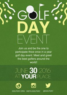 Golf A5 promotional flyer. http://premadevideos.com/a5-flyer-template-gallery/