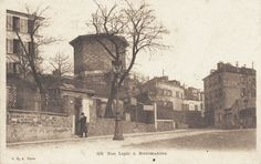 rue Lepic - Paris 18e - Montmartre - Le haut de la rue Lepic vers 1900 (ancienne carte postale).
