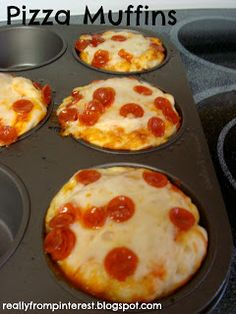 Pizza Muffins for School Lunch. Great idea.