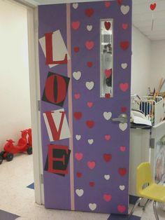 Décoration de porte: Février - Saint Valentin