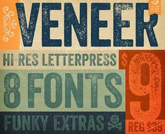 Deal of the week: Distressed Veneer font photo