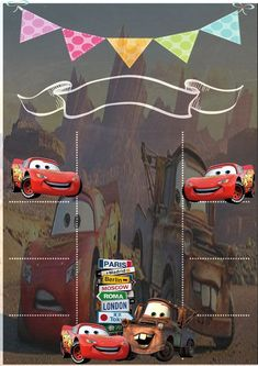 40 trendy ideas for cars birthday party invitations Disney Cars Party, Disney Cars Birthday, Cars Birthday Parties, Car Party, Birthday Board, 2nd Birthday, Cars Birthday Invitations, Car Themes, Birthday Chalkboard