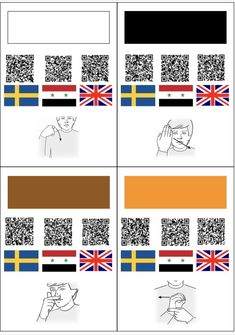 Tecken som stöd - Färger på tre språk
