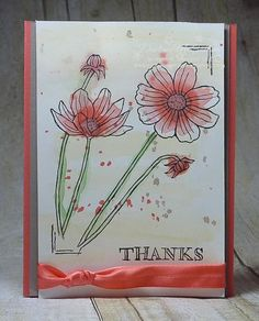 The watercoloring on this card is PERFECTLY imperfect.  This was created using the new Helping Me Grow stamp set.