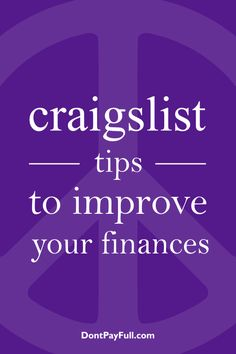 Looking for some awesome Craigslist tips and make some money or score a great item? This article is just what you need. Check it out! #DontPayFull