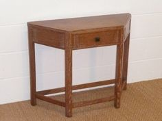An Art Deco / Modernist limed oak hall / side table attributed to Bath Cabinet Makers dating circa Single drawer with bakerlite handle. Bath Cabinets, Cabinet Makers, Nightstand, Drawers, Art Deco, Hallways, Side Tables, Antiques, Bing Images