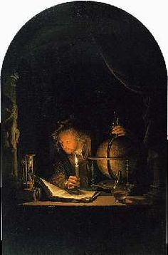 Astronomer by Candlelight, Gerrit Dou