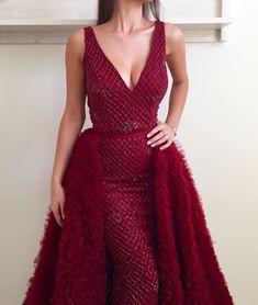 Dark Scarlet TMD Gown