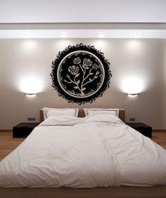 Vinyl Wall Decal Sticker Circular Rose #OS_MB111 | Stickerbrand wall art decals, wall graphics and wall murals.