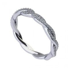 ($1278) Classique twisted diamond wedding band - For the woman who has an unmistakable passion for glamour, this wedding band will help ensure she gets to wear that passion everyday. Total carat weight is 0.22. This ring is a matching band for Z1419R7.0 Classique Creations engagement ring. #classique #twist #weddingband #weddingbands #twisted #diamond #accessories