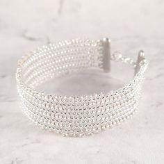 Silver beaded bracelet by mobi handmade  #accessories #beadedbracelet #handmadejewelry #mobihandmade #beading #bracelet #bransoletka #rękodzieło #jewelry #diy #handmade