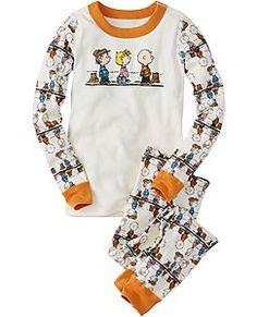 1b393212c2 Peanuts Long John Pajamas In Organic Cotton by Hanna Andersson Boys Pjs