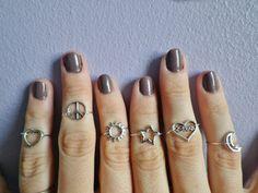 jewels midi rings