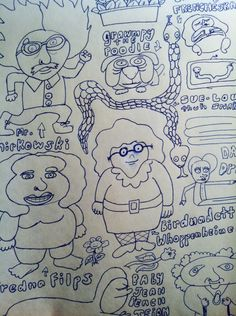 These are a bunch of characters I drew for fun one day during study hall. #illustrations