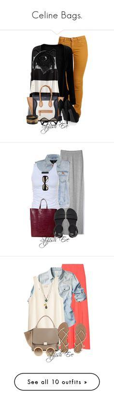 """Celine Bags."" by stylisheve ❤ liked on Polyvore featuring Second, H&M, CÉLINE, Giuseppe Zanotti, Jane Norman, Balmain, Miu Miu, Victoria's Secret, Rare London and Tusnelda Bloch"