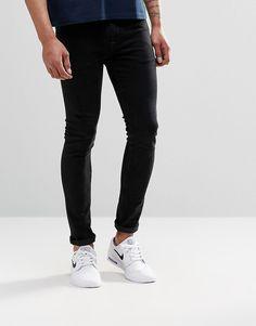 ASOS+Super+Skinny+Jeans+In+12.5oz+In+True+Black
