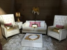 Cocktail party furniture for bridal shower or weddings