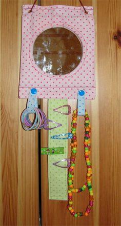 Haarspangen-Utensilo mit Spiegelkachel - Aufbewahrung, Utensilo für die Haarspange und Co