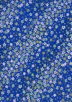 Japanese Yuzen Chiyogami Washi Paper (Floral Design 19) - A4 Sheet. $3.20, via Etsy.