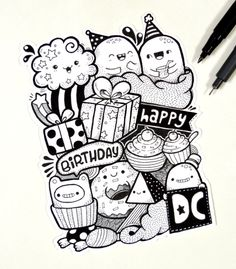 Happy 2nd Birthday Design Cuts! #doodle | www.youtube.com/piccandle