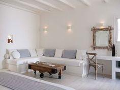 Naxos Greece . Villa Marandi . Living Room Interior