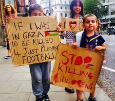 Zionists came out in support of the murder of children outside the Israeli embassy today but these children helped make up a counter protest!