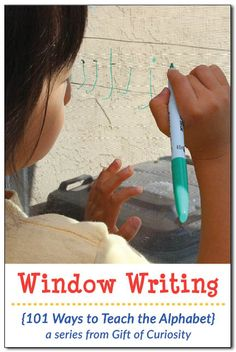 101 best literacy early writing activities images on pinterest window writing is a great way to get kids to practice their letters while also supporting fandeluxe Gallery