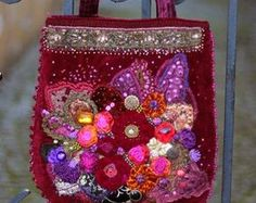 Eden purse wearable art purse romantic by FleursBoheme on Etsy
