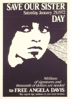 1972 - Angela Davis spent 18 months in prison, facing two capital charges, before she was acquitted.
