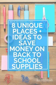Back to school season is here. Here are 8 Unique Places + Ideas To Save Money On Back To School Supplies, plus ways to save on school supplies. Going back to school shopping shouldn't break the bank or stress you out. Here are three important things I do, and what you should do in order to have a successful and budget-friendly school shopping experience. Get this back to school list on the blog!  AD