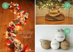 10 Creative Holiday Projects Using Burlap