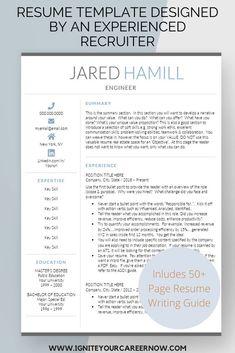 Resume Templates From An Award-Winning Resume Writer by IgniteYourCareer Nursing Resume Template, Teacher Resume Template, Modern Resume Template, Cv Template, Resume Templates, Resume Writer, Resume Cv, Resume Advice, Career Advice