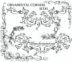Ornamental Corners set 3 by Lileya.deviantart.com on @DeviantArt